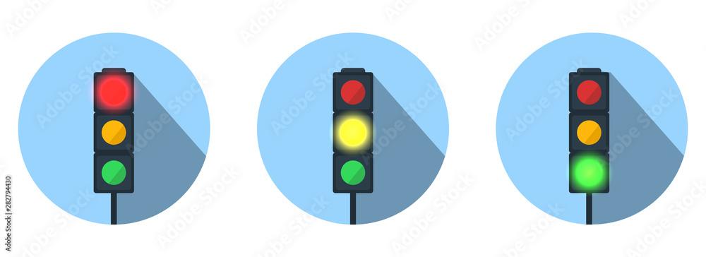 Fototapety, obrazy: Set of Traffic Lights