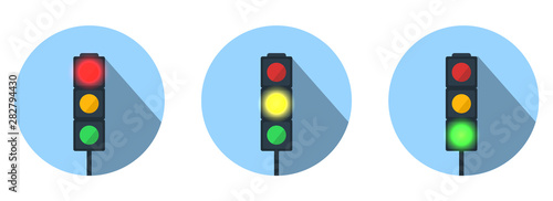 Fotomural  Set of Traffic Lights