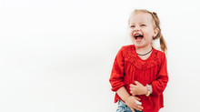 Cheerful Laughing Little Girl ...
