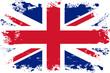 Malowana flaga Wielkiej Brytanii