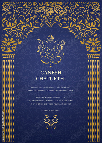 Canvas Print Happy Ganesh chaturthi design