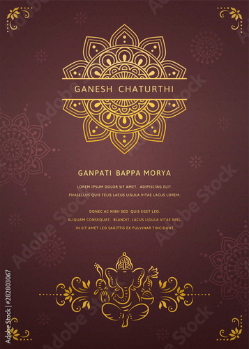 Photo Happy Ganesh chaturthi design