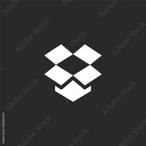 dropbox icon Canvas Print