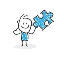 Stickman Blue: Puzzle, Solution. (Nr. 32)
