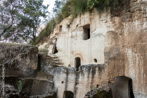 Cave settlements of Zungri in Calabria