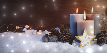 Advent Kerzen - Weihnachten Hi...