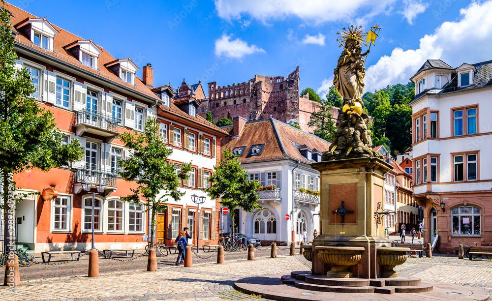 Fototapety, obrazy: old town of heidelberg in germany