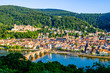 canvas print picture - old town of heidelberg in germany