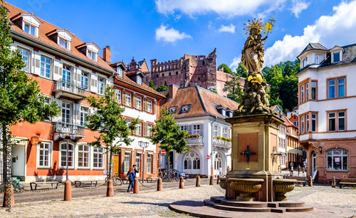 obraz dibond old town of heidelberg in germany