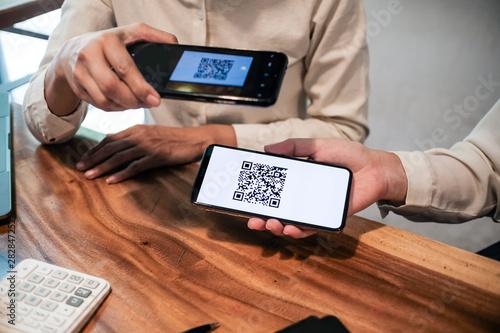 Valokuvatapetti Qr code payment