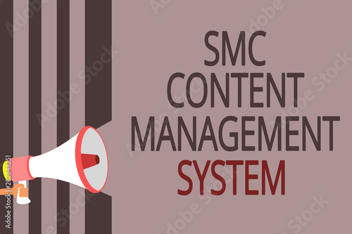 Text sign showing Smc Content Management System Wallpaper Mural