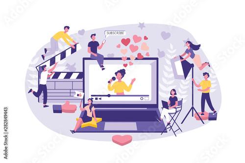 Fototapeta Business Concept Influencer marketing