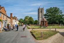 A View Up The Main Street Of The Chocolate Box Village Of Heydon In Norfolk