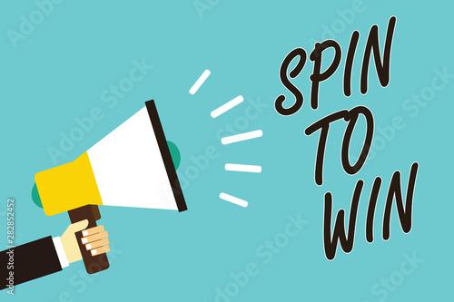 Text sign showing Spin To Win Canvas Print