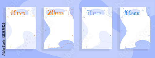 Fototapeta 10,20,50,100 interesting facts lists colorful templates for web and printing. obraz