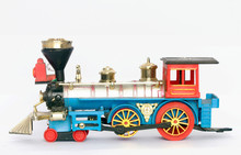 Old Toy Steam Train Isolated