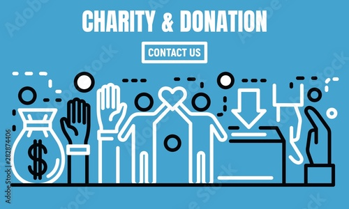 Photo  Charity and donation banner