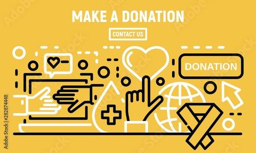 Make a donation banner Canvas Print