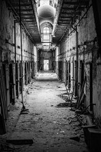 Prison Corridor In Disrepair