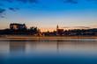 Landschaft mit Kirche und See Nacht Grein