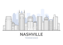 Nashville City Skyline, Tennes...