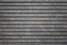Rough Grey Concrete Cement Striped Wall