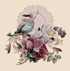 Fototapeta Zwierzęta bird on a branch