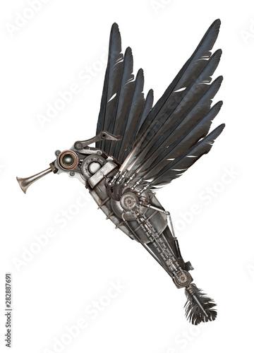 Fotografía  Steampunk style colibr