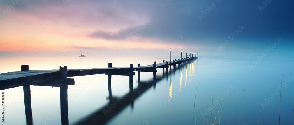 Obraz Entspannung am See am Morgen fototapeta, plakat