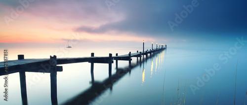 Fototapeta Entspannung am See am Morgen obraz