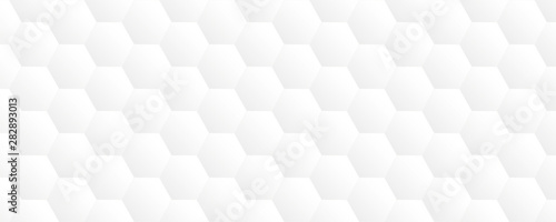 Fototapety, obrazy: bright white abstract honeycomb background vector illustration EPS10