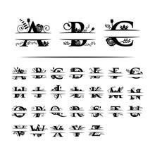 Decorative Monogram Split Lett...
