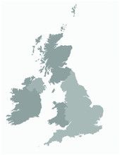 United Kingdom Map Vector Illustration