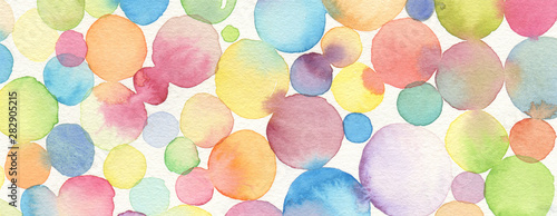 Abstract bubble watercolor brush strokes painted background. Texture paper.