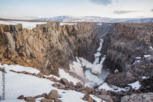 Obraz na plátně Hikikal River Canyon, Putorana Plateau, Siberia
