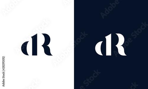 Fotomural Abstract letter DR logo
