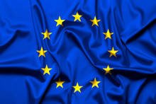 European Union Flag As Background