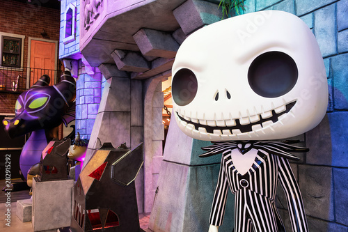 Jack Skellington of Nightmare before Christmas display at Funko Headquarters in Wallpaper Mural