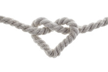Heart Shape Knot Of Rope Isola...