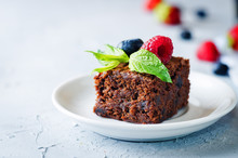 Chocolate Brownie With Berries...