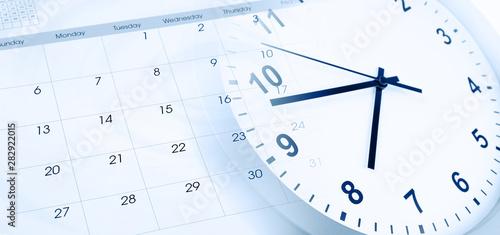 Cuadros en Lienzo  Clock and calendar