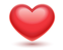 Red Heart. Romantic Symbol Of ...