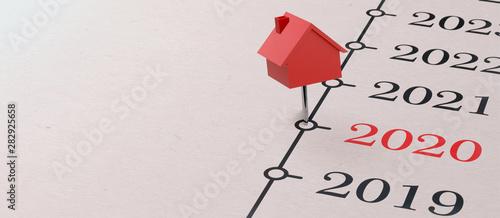 Fototapeta 2020 - Zeit um eine Immobilie zu kaufen obraz