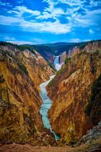 Veiw Of Lower Yellowstone Fall...