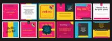 Retro Social Media Templates (square)