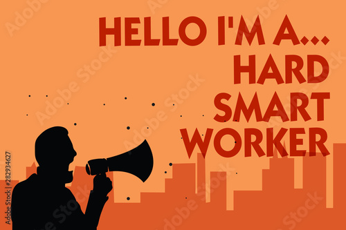 Text sign showing Hello I am A Wallpaper Mural