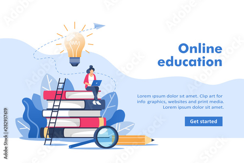 Person gains knowledge for success and better ideas Wallpaper Mural