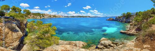 Mallorca Majorca Spain Cala Fornells turquoise mediterranean sea panorama
