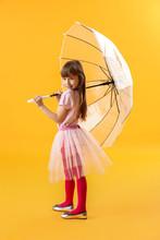 Cute Little Girl With Umbrella...