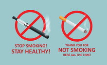 Stop Smoking Cigarettes Concep...